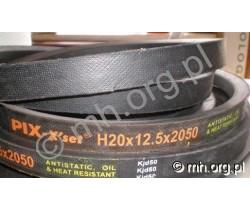 Pas H20x12.5 2050, H20 2050 przekładnia wentylatora młocarni BIZON - PIX