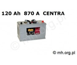 Akumulator CF1202 - 120Ah 870A CENTRA Professional Power