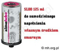 Smarownica zasobnik SL00 SIMALUBE 125 PUSTA Z CARTRIDGE'm - SIMATEC