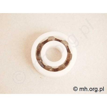 Łożysko 6001 - plastikowe POM ze szklanymi kulkami - 12x28x8