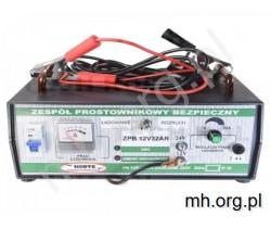 Prostownik 6V/12V - 15A z płynną regulacją prądu - HERTZ - POLSKA PRODUKCJA - prostownik akumulatorowy