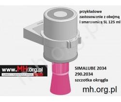 2034 SIMALUBE - 290.2034 - szczotka okrągła z włosiem z tworzywa - 25x45 mm