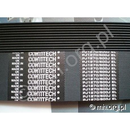 Pasek PJ 1270, PJ1270 500J  500J - cena za 1 żebro - CONTITECH - do siewników i innych urządzeń