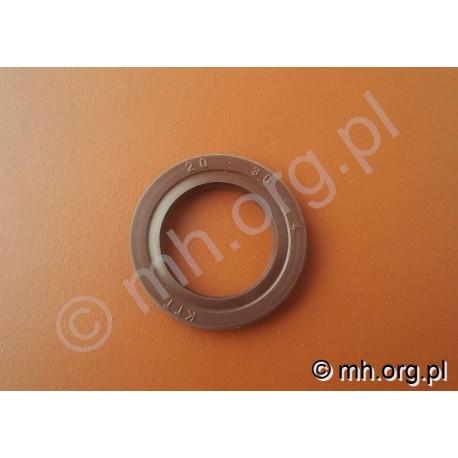 Uszczelniacz, simering 20x30x4 KTT FPM VITON - SEAL - kolor brązowy na temperaturę i ciśnienie