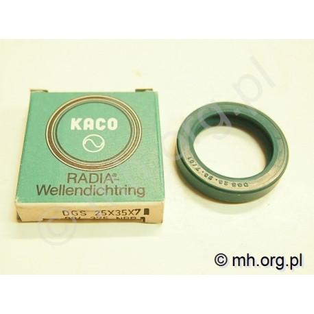Simering DGS 25-35-7, 25*35*7, 25x35x7 - KACO - uszczelniacz zielony