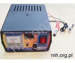 Prostownik akumulatorowy 12V 8A - EUROCHARGER - POLSKA PRODUKCJA - akumulatory od 20Ah do 100Ah