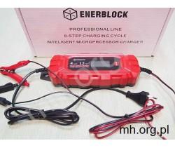 Automatyczna Ładowarka Mikroprocesorowa ENERBLOCK 8-step Professional-Line - 12V/4A - prostownik, ładowarka